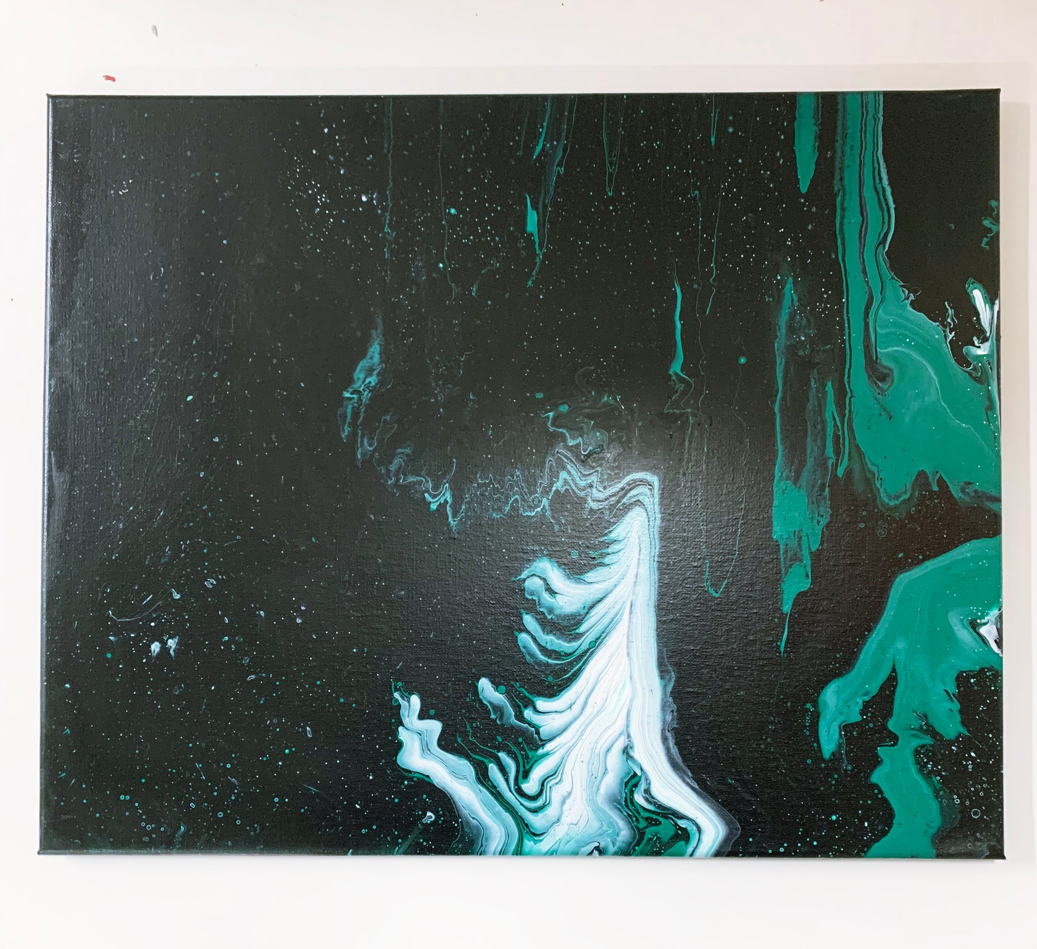 "Canvas Painting ""Smoke Horizon"" - Ashley Lisl Art"