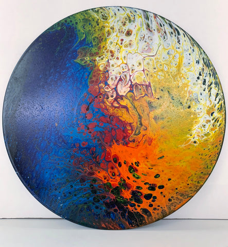 "Vinyl Art Painting ""Sun & Water"" - Ashley Lisl Art"