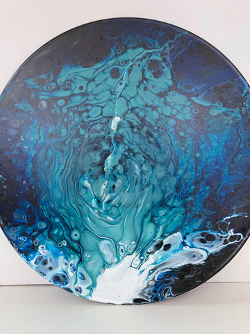 "Vinyl Art Painting ""Turbulent Ocean"" - Ashley Lisl Art"