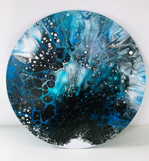 "Vinyl Art Painting ""Turquoise Spray"" - Ashley Lisl Art"