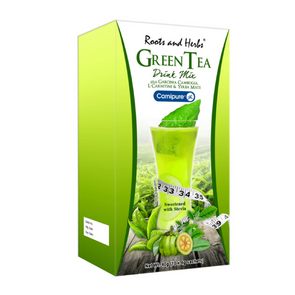 Roots & Herbs - Green Tea Drink Mix - Sozo  Sales
