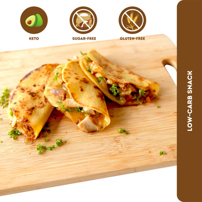 Fitness & Flavors | Low-carb Chicken Quesadilla