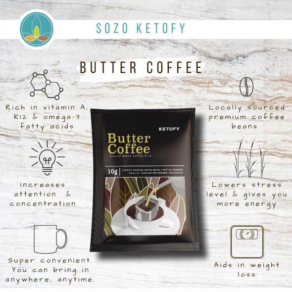 Keto Butter Coffee - 10 Sachets - Sozo  Sales