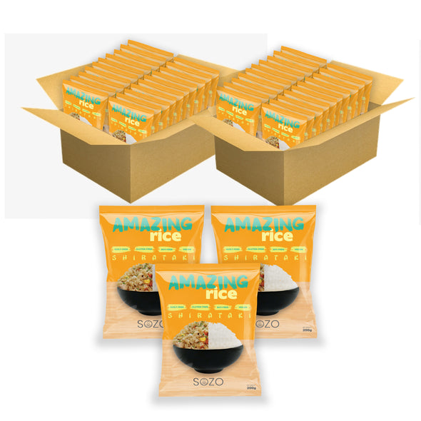 Wholesale | Shirataki Rice 1 Box (40 packs) - Sozo  Sales