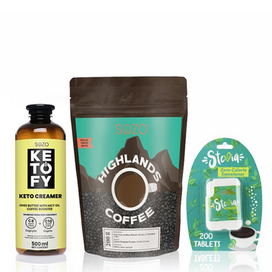 Bulletproof Coffee Bundle with Stevia - Sozo  Sales