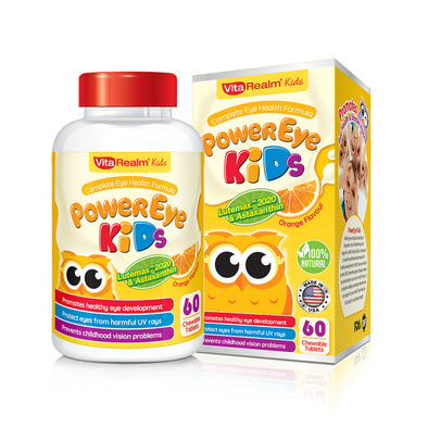 VITAREALM® POWEREYE KIDS (60 CHEWABLE TABLETS) - Sozo  Sales