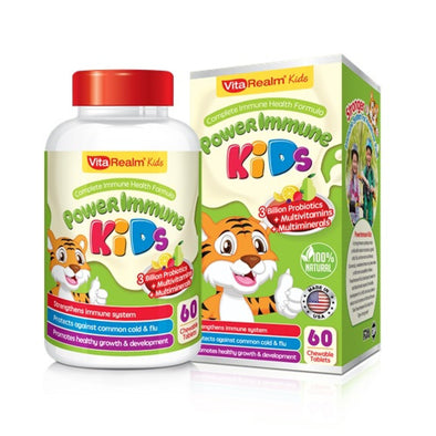 VITAREALM® POWERIMMUNE KIDS (60 CHEWABLE TABLETS) - Sozo  Sales