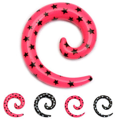 view all Acrylic Multi-Star Spiral Stretchers body jewellery