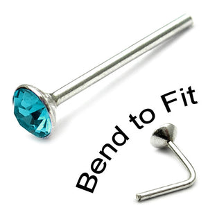 Crystal Nose Stud (Bend to fit) (ST2 ST3)