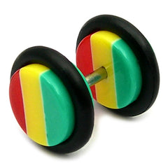 Acrylic Rasta Fake Plugs