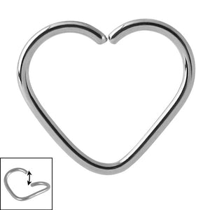 Steel Continuous Heart Twist Rings
