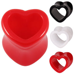 view all Acrylic Heart Shaped Double Flared Eyelets body jewellery