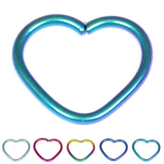 view all Titanium Coated Steel Continuous Heart Twist Rings body jewellery
