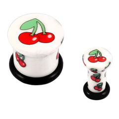 view all Acrylic Cherries Plug (Cherry) body jewellery
