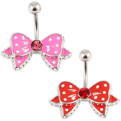 Belly Bar - Polka Dot Bow