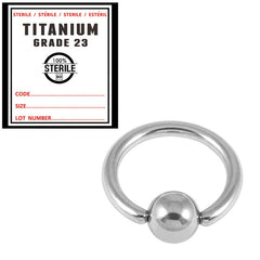 view all Sterile Titanium BCR with Titanium Ball body jewellery