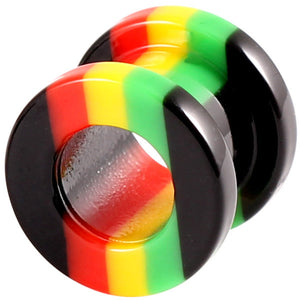 Acrylic Rasta Flesh Tunnel