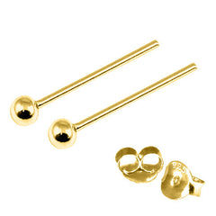 view all Gold Plated Silver Ear Studs with Ball GP-ST4 GP-ST5 GP-ST6 GP-ST7 GP-ST21 GP-ST23 body jewellery