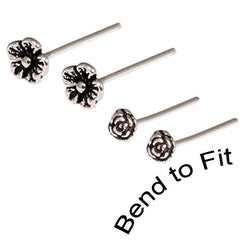 view all Silver Studs - Silver Flower Nose Studs body jewellery
