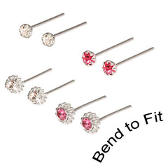 view all Silver Studs - Tiny Jewelled Nose Studs body jewellery