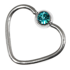 Steel Jewelled Continuous Heart Rings