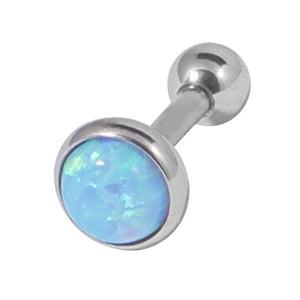 Steel Synthetic Opal Tragus Bar 1.2mm