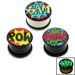 Multipacks - Acrylic Comic Plugs
