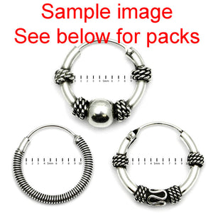 Multipacks - Sterling Silver Hoops