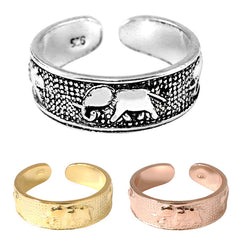 925 Sterling Silver Elephant Toe Ring