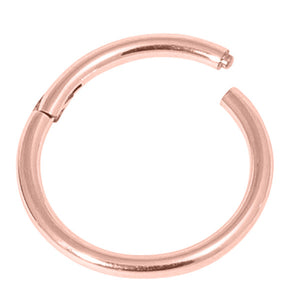 Rose Gold Steel Hinged Segment Ring (Clicker)