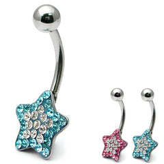 view all Belly Bar - Glitzy Star body jewellery