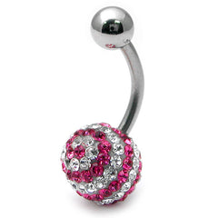 view all Belly Bar - Glitzy Swirl body jewellery