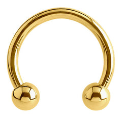 view all Gold Plated Steel Circular Barbells (CBB) (Horseshoes) body jewellery