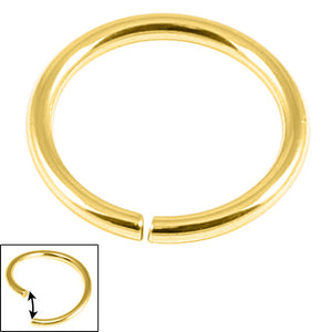 Gold Plated Steel Continuous Rings