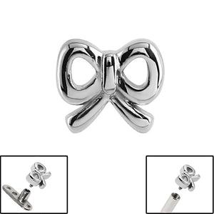 Steel Cute Bow for Internal Thread shafts in 1.6mm (1.2mm). Also fits Dermal Anchor