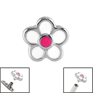 Steel Daisy Flower for Internal Thread shafts in 1.6mm (1.2mm). Also fits Dermal Anchor