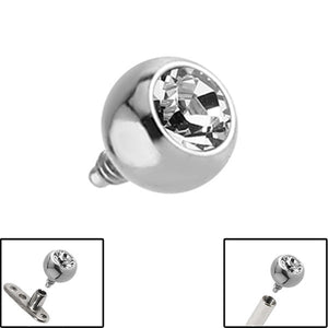 Titanium Jewelled Ball for Internal Thread shafts in 1.6mm (1.2mm). Also fits Dermal Anchor