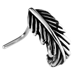 Steel Nose Stud Feather Curl