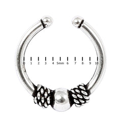 view all Sterling Silver Clip On Fake Piercing Ring SC27 body jewellery
