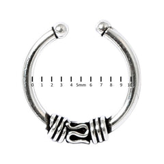view all Sterling Silver Clip On Fake Piercing Ring SC47 body jewellery