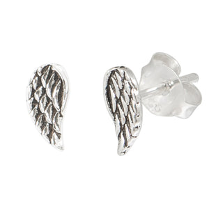 Sterling Silver Angel Wing Stud Earrings ES7