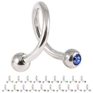 Steel Double Jewelled Spiral 1.6mm