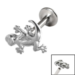 Titanium Internally Threaded Labrets 1.2mm - Gecko