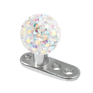 Titanium Dermal Anchor with Smooth Glitzy Ball