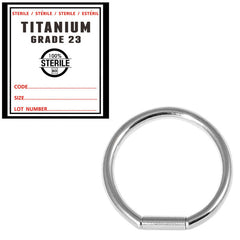 view all Sterile Titanium Bar Closure Rings body jewellery