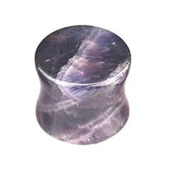 view all Amethyst Stone Double Flared Tapered Plug body jewellery