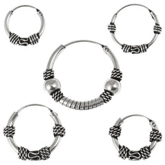 view all Sterling Silver Hoops - Earrings  H44-H54A body jewellery