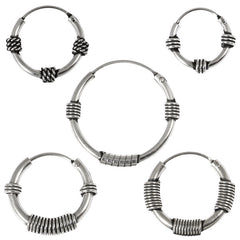view all Sterling Silver Hoops - Earrings  H83-H95 body jewellery