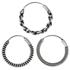 view all Sterling Silver Hoops - Earrings   H117-H123 body jewellery