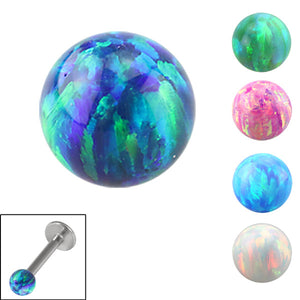 Synthetic Opal Threaded Balls 1.2mm